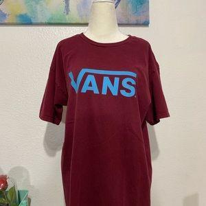 Maroon and Blue Vans Shirt